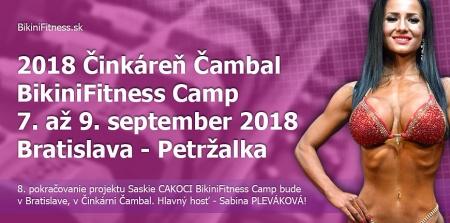 2018 Činkáreň Čambal BikiniFitness Camp - 7. až 9. september