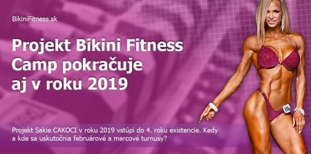 Projekt Bikini Fitness Camp pokračuje aj v roku 2019