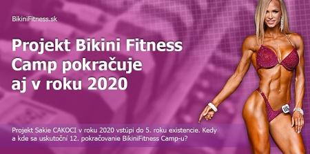 Projekt Bikini Fitness Camp pokračuje aj v roku 2020